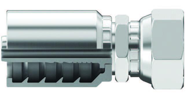 L JIC 37° Flare (SAE J514) SF (NSFX) fittings for Saflex® Female / Swivel