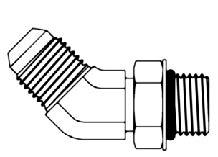 JIC 37°, MALE - OR BOSS, MALE, 45° ELBOW