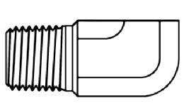 NPTF, MALE - NPTF, FEMALE, 90° ELBOW, COMPACT - BRASS