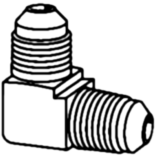 SAE 45°, MALE - SAE 45°, MALE, 90° ELBOW - BRASS