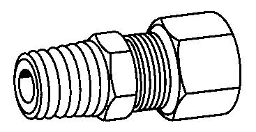 NPTF, MALE - COMPRESSION TUBE - BRASS