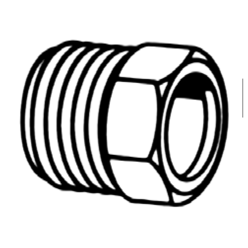 SAE 45° INVERTED, MALE NUT - BRASS