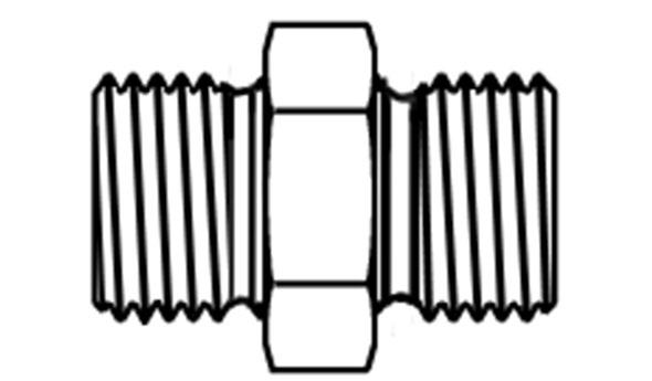 BSPP, MALE - METRIC PORT, MALE